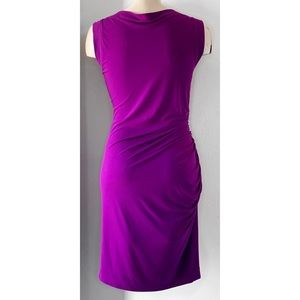 Maggy London Dresses - MAGGY BOUTIQUE ROYAL PURPLE RUCHED SHEATH DRESS